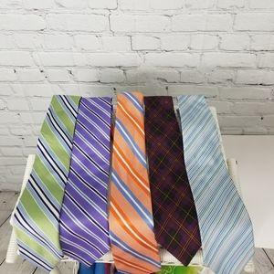 A set of five Designer ties